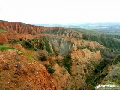 Cárcavas de Patones y Cerro Negro; trekking material sin guias senderismo grupos de senderismo en m